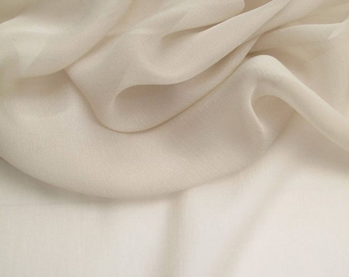 High quality Faux Silk Chiffon, very close to genuine silk chiffon. Color Ivory No3