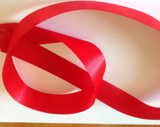 Red double sided sateen ribbon