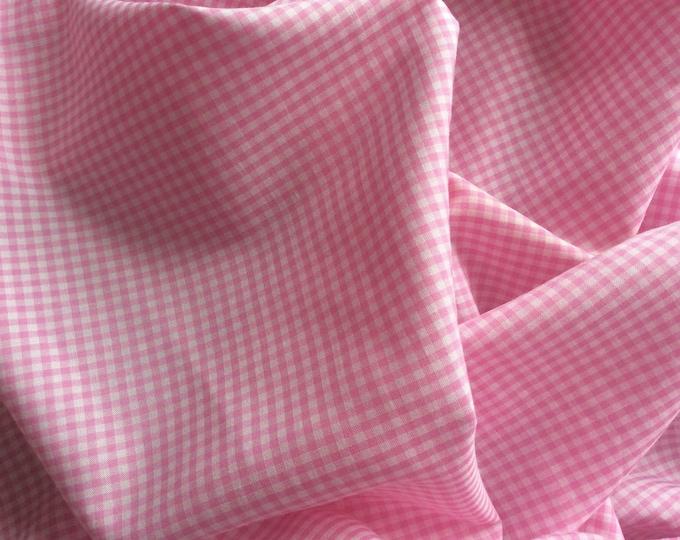 Cotton poplin, check weave
