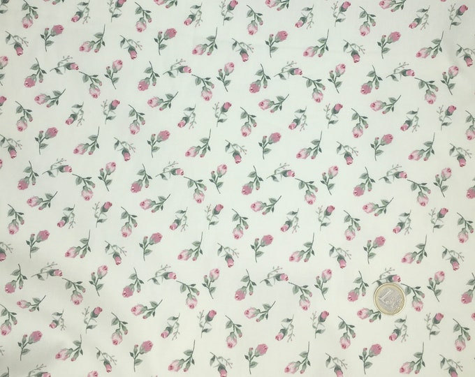 High quality cotton poplin dyed in Japan with rose buds