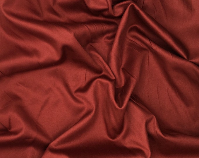 High quality cotton sateen, maroon no22
