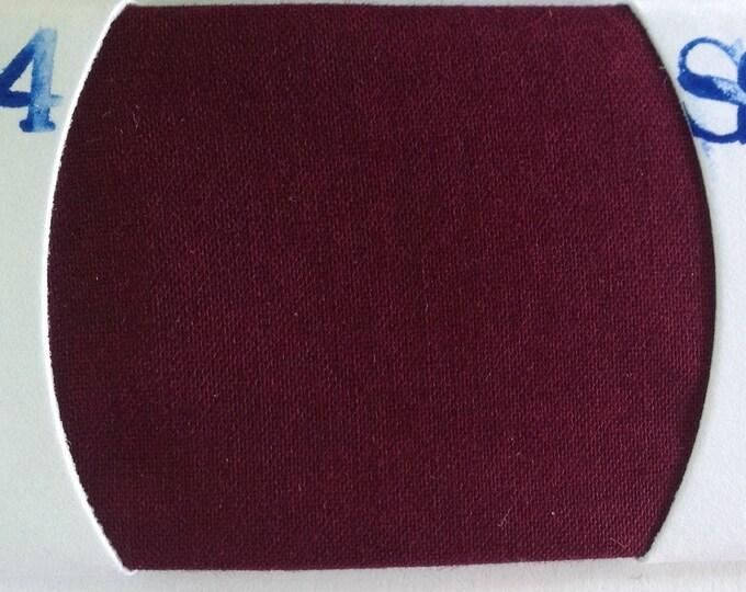 Plain cotton lawn fabric, dark Bordeaux no44