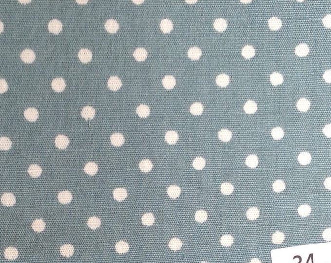 High quality cotton poplin 3mm polka dots no34