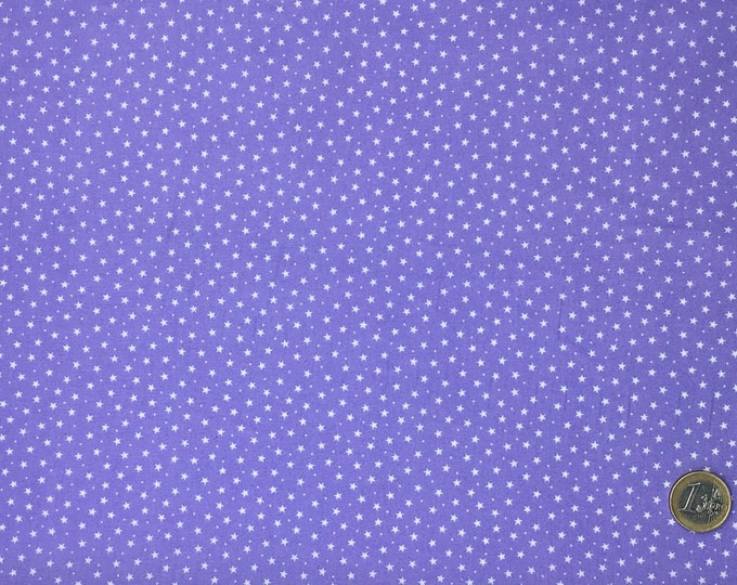 High quality cotton poplin dyed in Japan with stars, lavender
