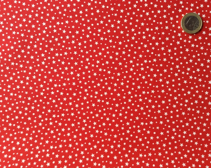 High quality cotton poplin, stars on red