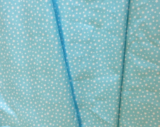 High quality cotton poplin printed in Japan, stars