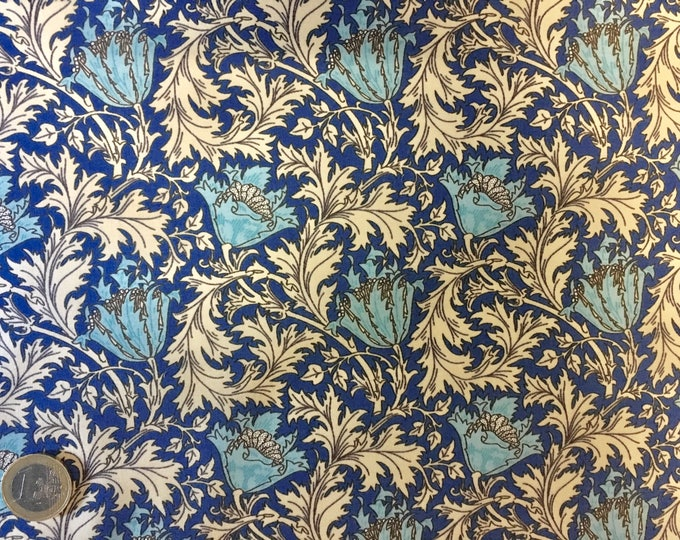 English Pima lawn cotton fabric, floral, jugend style