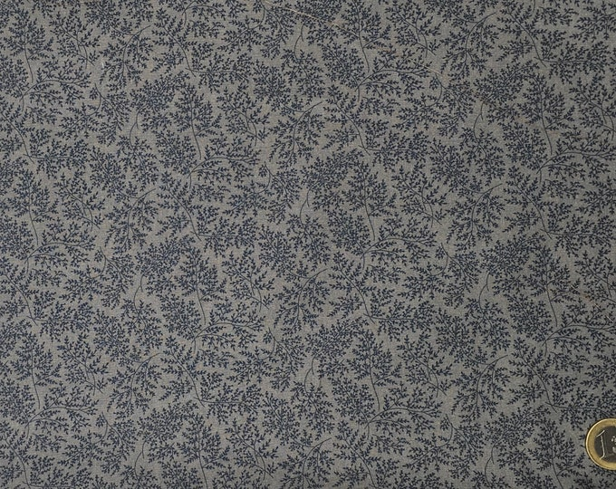 High quality cotton poplin dyed in Japan with leave print
