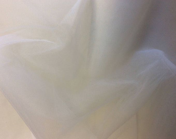 Soft tulle or net, white, sold by 25cm