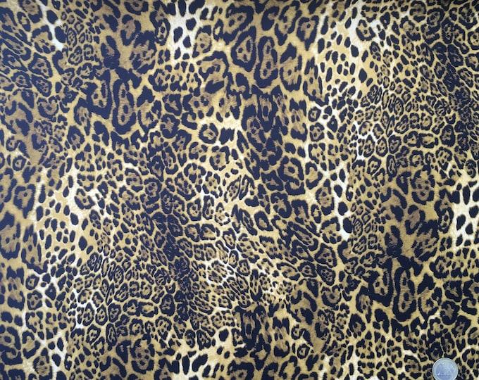 Cotton poplin with Léopard print