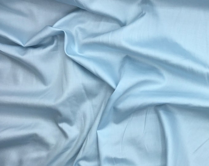 High quality cotton satin, baby blue