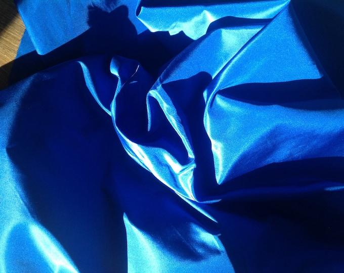Pure silk fabric, royal blue
