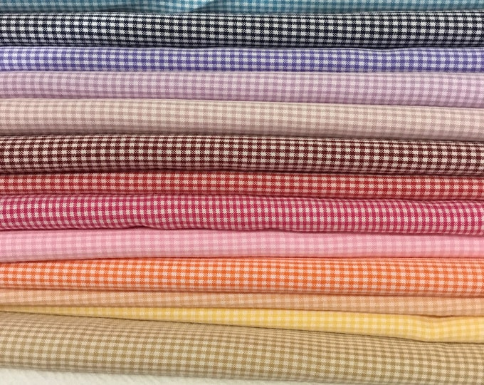 50% off: 4m25 Check poly cotton fabric