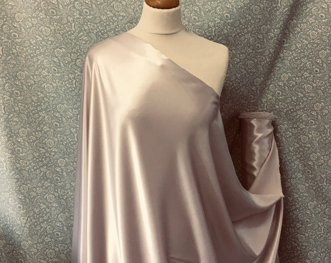 Pearl grey nr40, High quality silky satin back, close to genuine silk crepe, backed crepe.