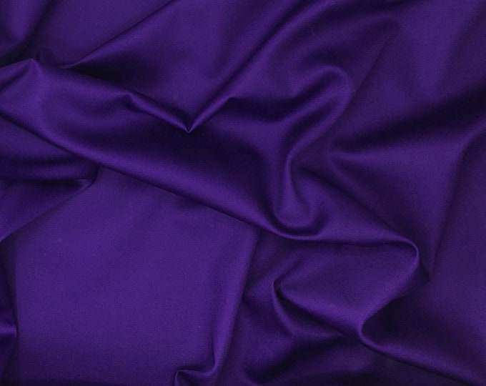 High quality cotton satin, purple nr34