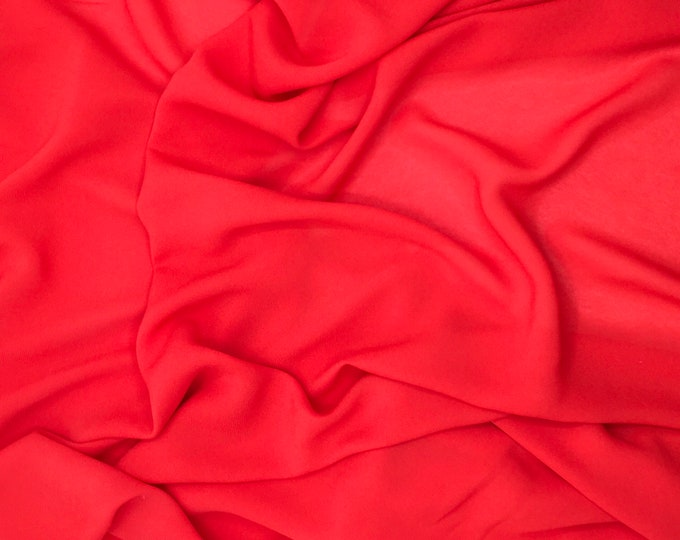 High quality Faux Silk Chiffon. Red nr15