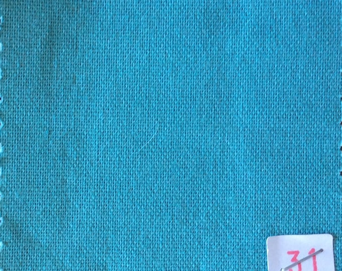 High quality soft cotton canvas dyed in Japan. Blue-Green nr31