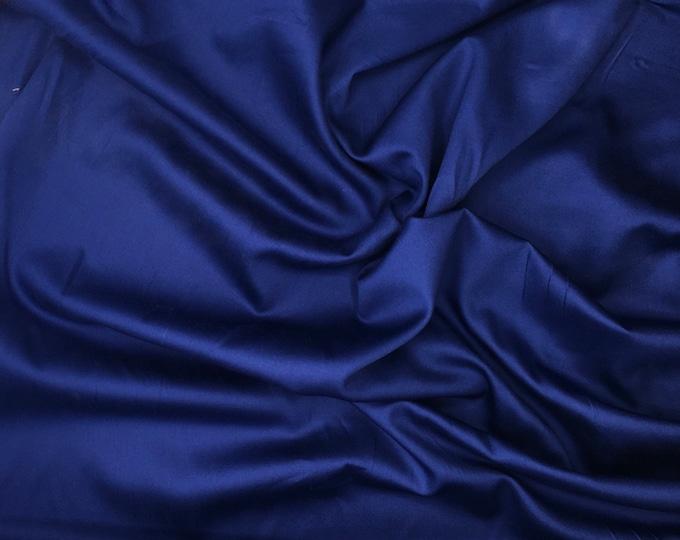 High quality cotton sateen, night blue nr26