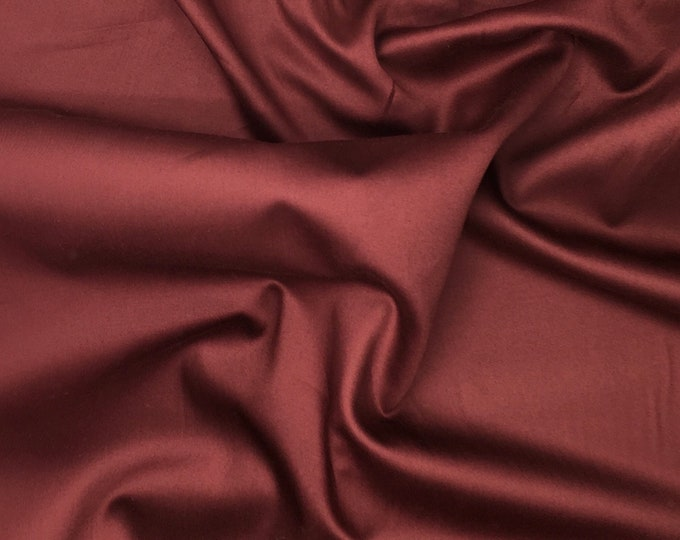 High quality cotton sateen died in Japan. Chocolate brown