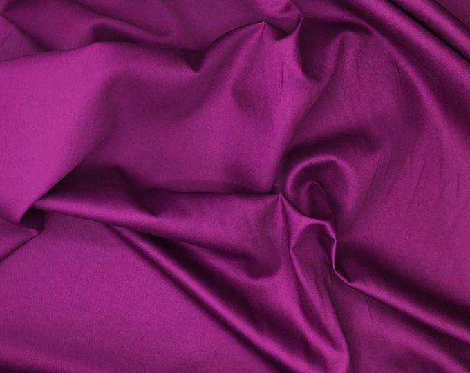 High quality cotton sateen, mid purple nr30