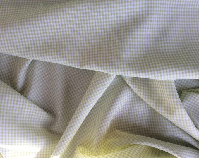 Cotton poplin, vichy or check weave, green
