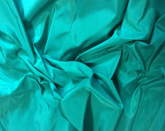 Pure silk fabric, emerald green