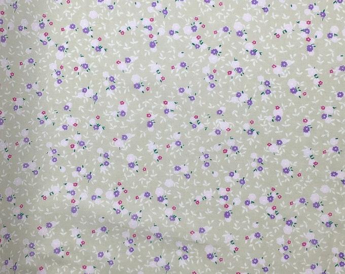 Cotton lawn fabric, floral print
