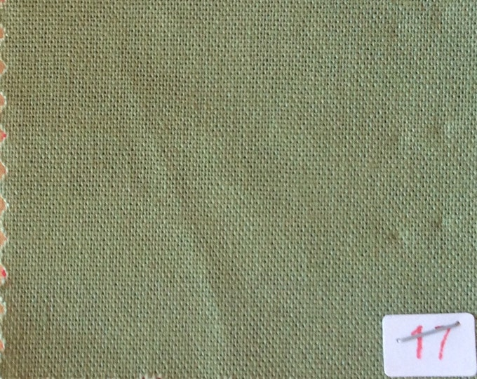 High quality soft cotton canvas dyed in Japan. khaki nr17