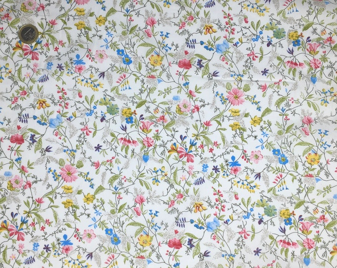 English Pima lawn cotton fabric, priced per 25cm. Wild flowers