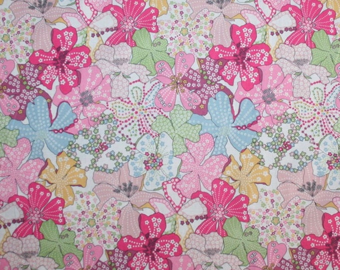 Tana lawn fabric from Liberty of London, mauvey