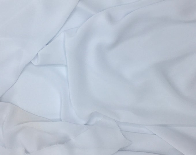 High quality Faux Silk Chiffon, very close to genuine silk chiffon. White No1