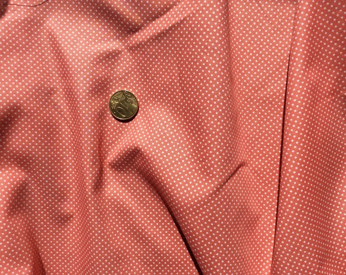 High quality cotton poplin dyed in Japan with 2mm polka dots salmon (orod pink)