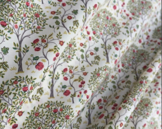 English Pima lawn cotton fabric, priced per 25cm. Trees