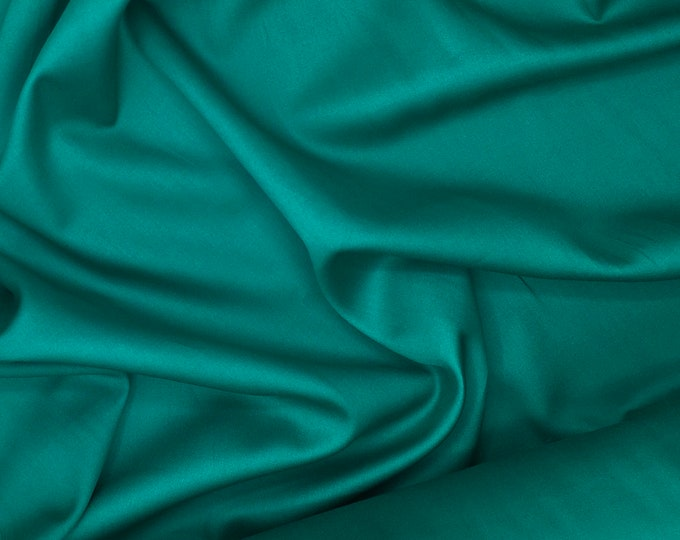 High quality cotton sateen dyed in Japan, aqua green nr15