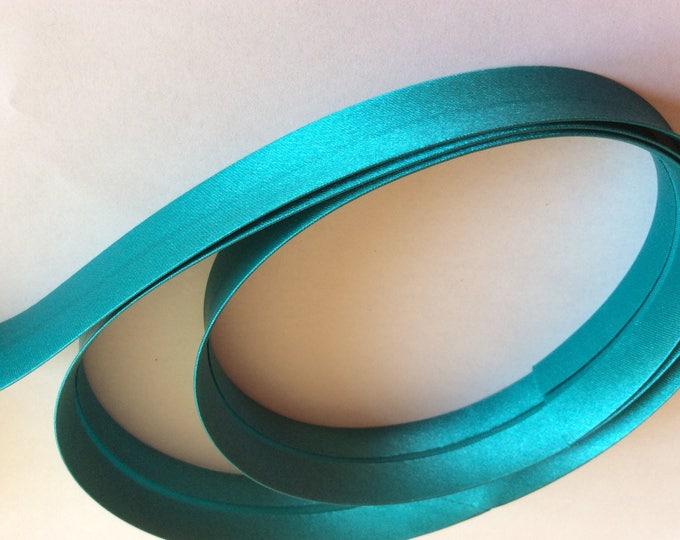 25mm silky sateen bias binding, green turquoise no55