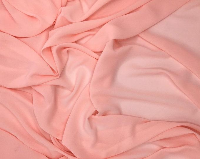 High quality Faux Silk Chiffon. Powder pink no97