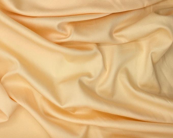 High quality cotton sateen creamy yellow no3