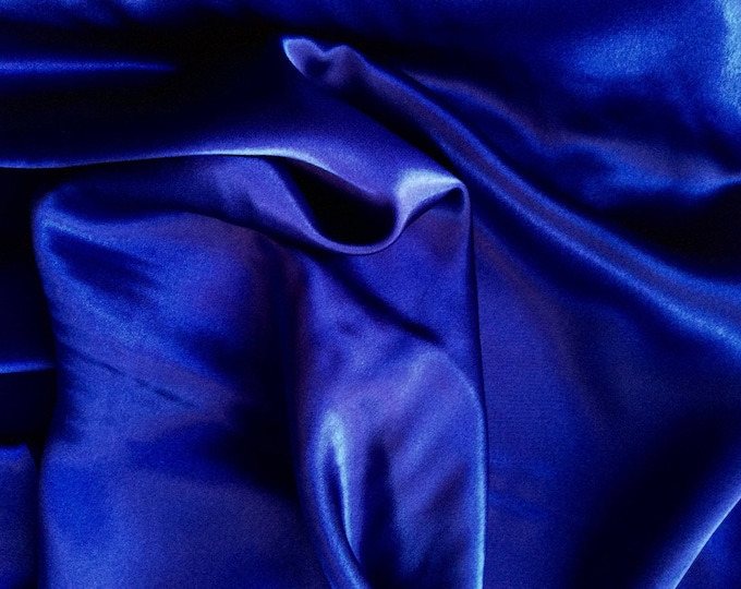 High quality silky satin, very close to genuine silk satin. Color Marine Blue No29