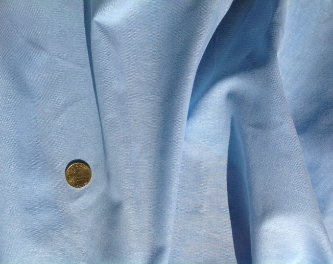 High quality oxford polycotton poplin baby blue