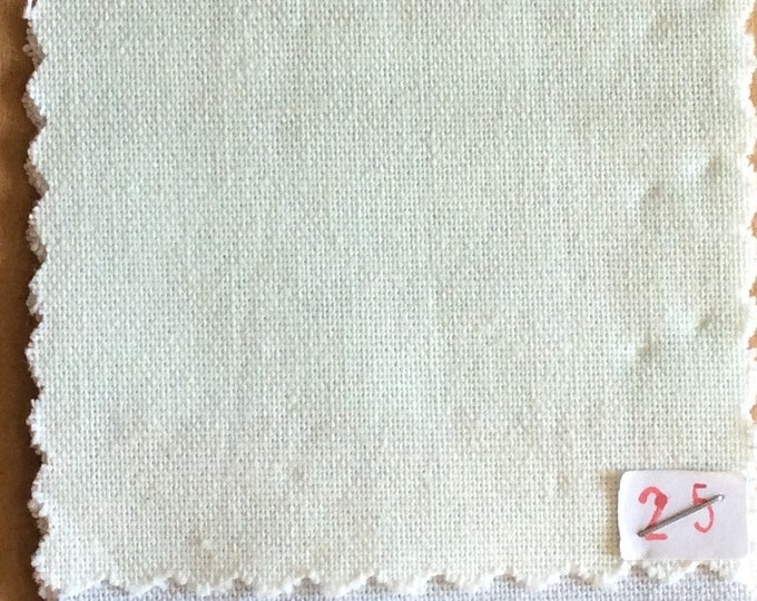High quality soft cotton canvas dyed in Japan, very light green nr25