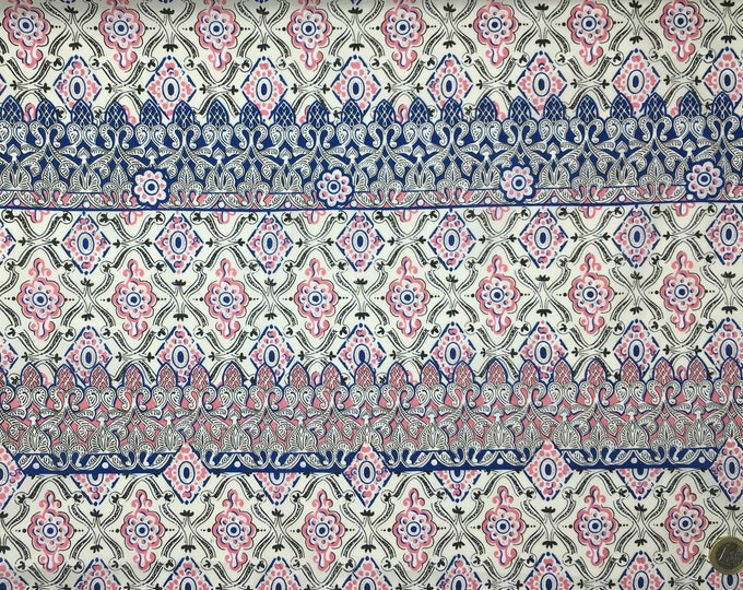 London lawn cotton fabric, priced per 25cm, Ganges