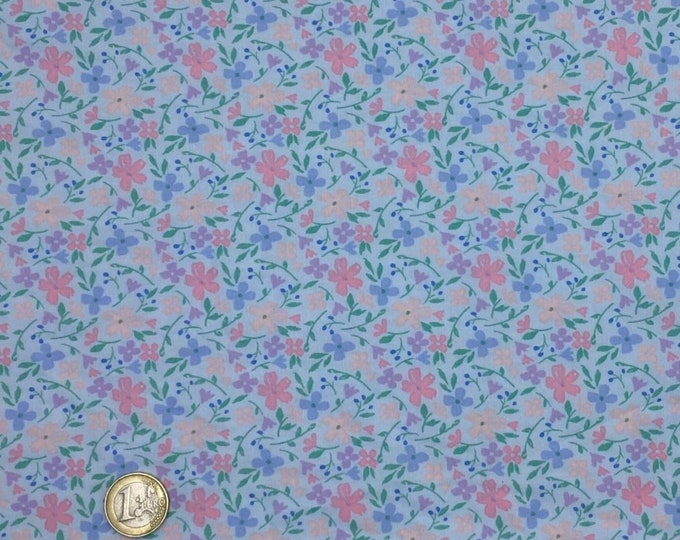 High quality cotton poplin dyed in Japan with blue floral print