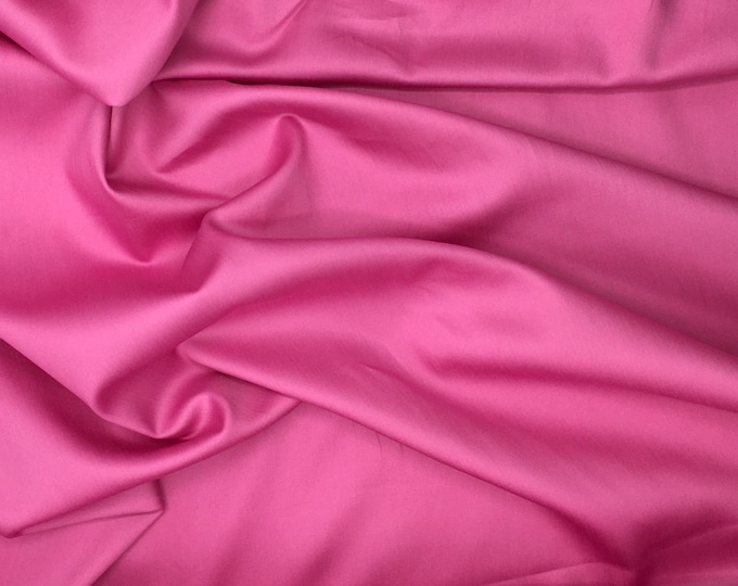 High quality cotton satin dyed in Japan, mid pink nr6