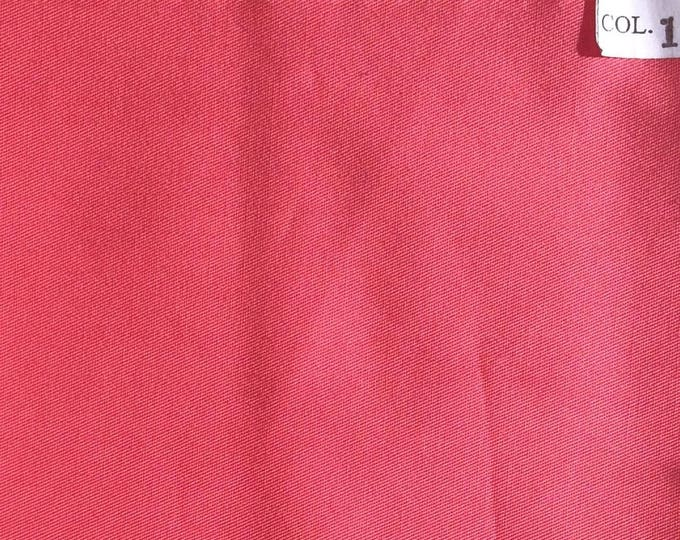 High quality, light, cotton twill coral pink