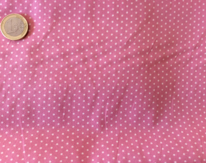 High quality cotton poplin dyed in Japan with 2mm polka dots no1