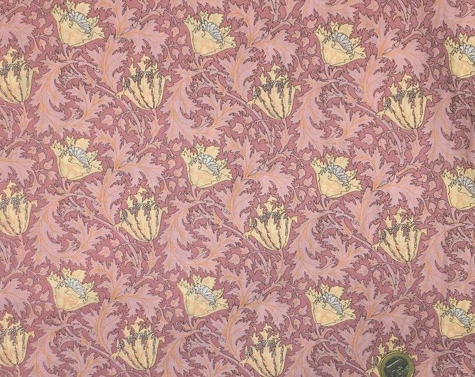 English Pima lawn cotton fabric, Pink thistle