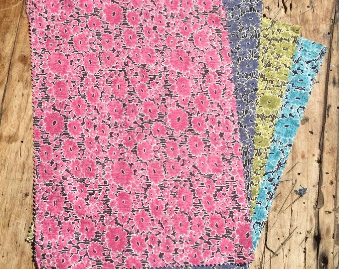 "Bundle of pima lawn fabric, 4 rectangles 8""x13"""