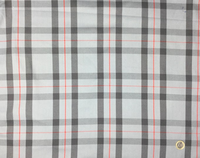 Woven tartan heavy weight cotton fabric