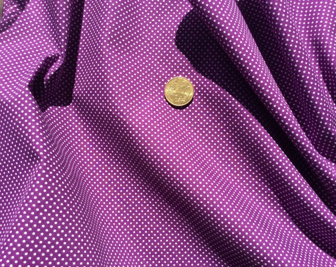 High quality cotton poplin dyed in Japan with 2mm polka dots purple