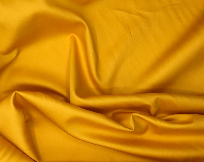 High quality cotton satin, yolk yellow nr5